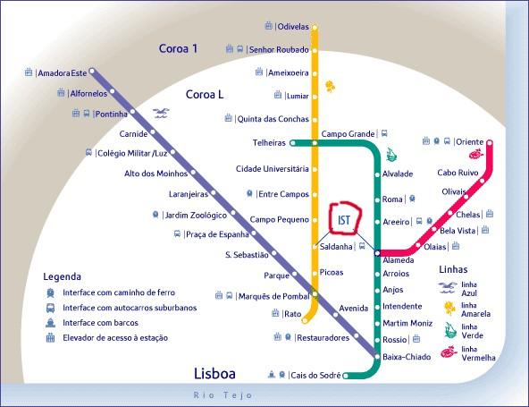 mapa ist alameda Campus da Alameda · Departamento de Engenharia e Gestão mapa ist alameda